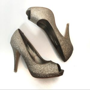 Call It Spring Glitter Federle Heels size 9